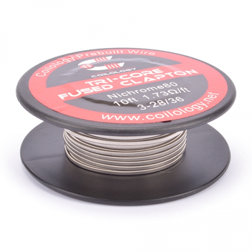 Coilology - Tri-Core Fused Clapton Ni80 3x28/36ga 10ft...